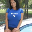 """Womens """"Casey Blake"""" Dodgers T Shirt Jersey S-XXL"""