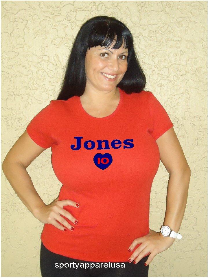"""Womens """"Chipper Jones"""" Braves T Shirt Jersey S-XXL"""