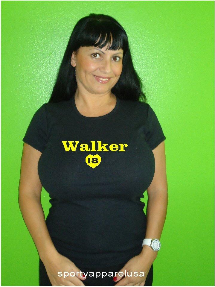 """Womens """"Neil Walker"""" Pirates T Shirt Jersey S-XXL"""