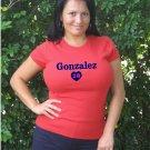 """Womens """"Adrian Gonzalez"""" Red Sox T Shirt Jersey S-XXL"""