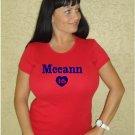 "Womens ""Brian McCann"" Braves T Shirt Jersey S-XXL"