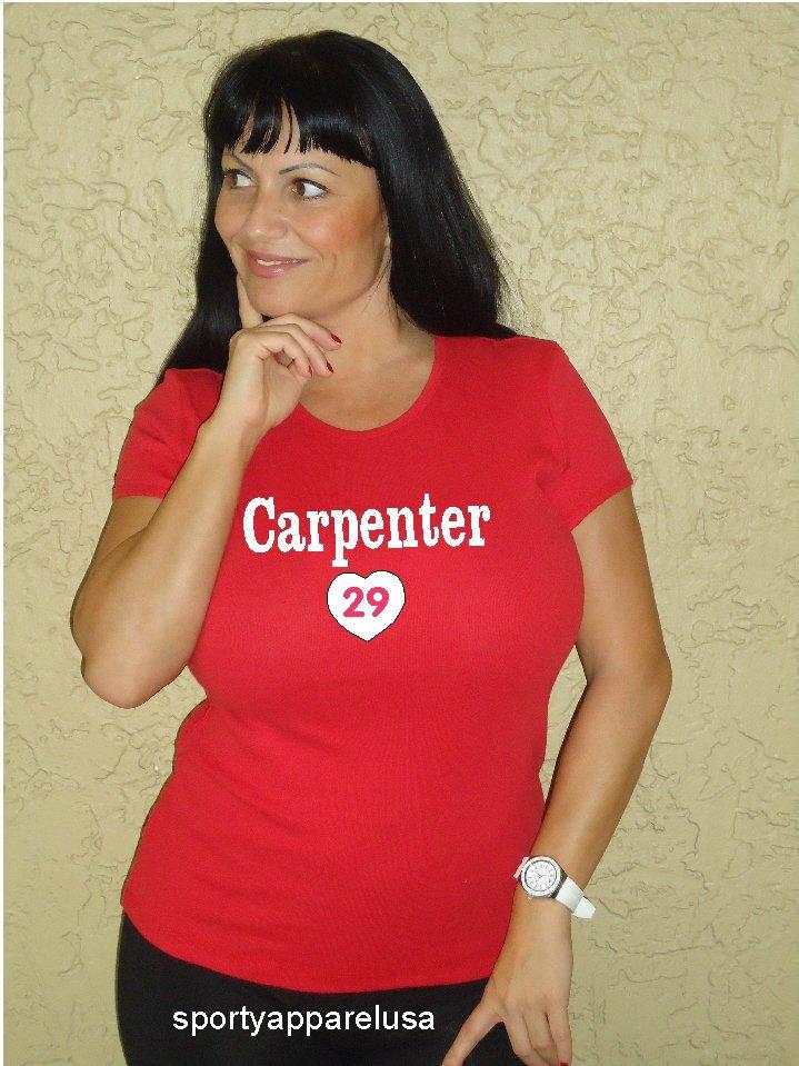 """Womens """"Chris Carpenter"""" Cardinals T Shirt Jersey S-XXL"""