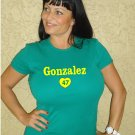 "Womens ""Gio Gonzalez"" Athletics T Shirt Jersey S-XXL"