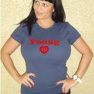 """Womens """"Michael Young"""" Rangers T Shirt Jersey S-XXL"""