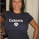 "Womens ""Miguel Cabrera"" Tigers T Shirt Jersey S-XXL"