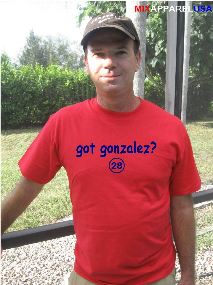 """Mens """"Got Gonzalez ?"""" Red Sox T Shirt Jersey Adrian  S-XXL"""