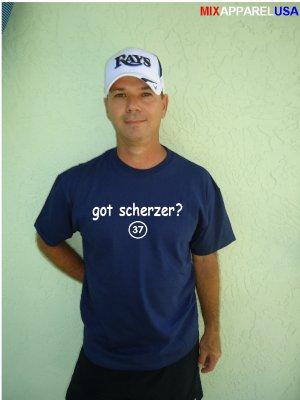 """Mens """"Got Scherzer ?"""" Tigers T Shirt Jersey Max S-XXL"""