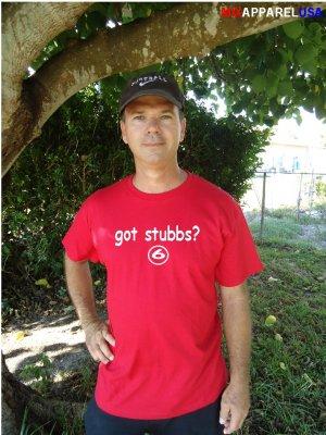 """Mens """"Got Stubbs ?"""" Reds T Shirt Jersey Drew S-XXL"""