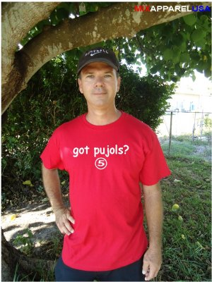 """Mens """"Got Pujols ?"""" Cardinals T Shirt Jersey Albert S-XXL"""