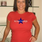 "Womens Cute ""Marine Wife""  Military T Shirt S-XXL"