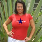 "Womens Cute ""Navy Wife""  Military T Shirt S-XXL"