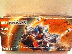 Life on Mars LEGO 7311 Mars Red Planet Cruiser 73 Piece Set Rare