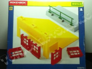 Rokenbok Roof with Windows & Sidewalk 04870 4870 Build Toy rare