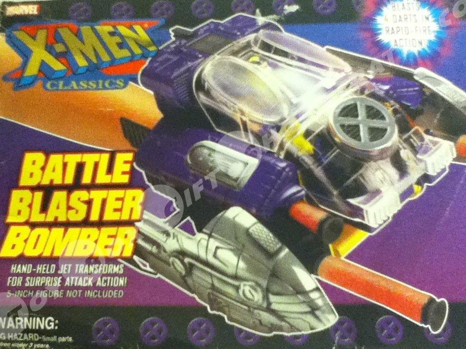 Marvel XMEN Classics Battle Blaster Bomber Jet Transforms..Surprise Attack Action Collectible #xmen