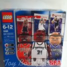 NBA Collectors LEGO 3566 pack #7 Rose, Garnett & Stojakovic Figures w Stand & Trading Cards 2003