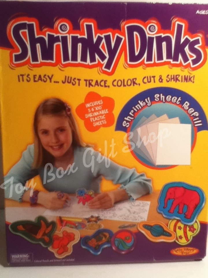 Shrinky Dinks Refill Shrinky Sheet Easy, Trace, Color, Cut & Shrink! Spin Master Toys