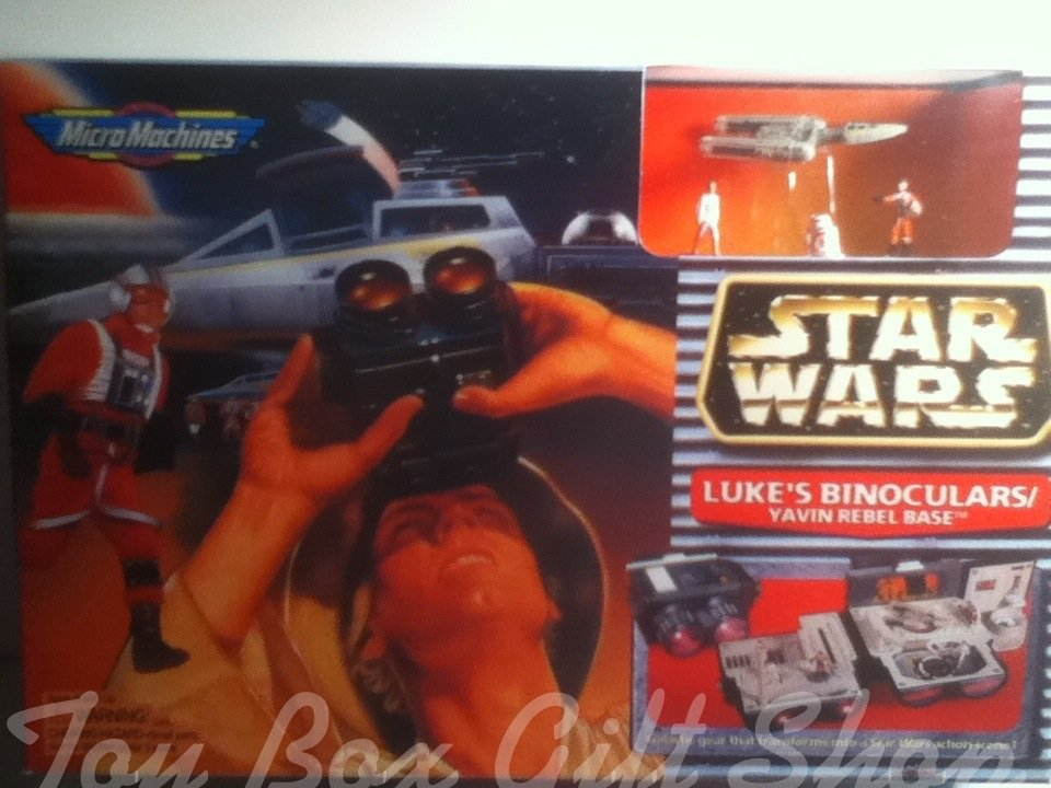 Star Wars Luke�s Binoculars Transforms into Scene!Yavin Rebel Base Galactic Gear #starwars 1996
