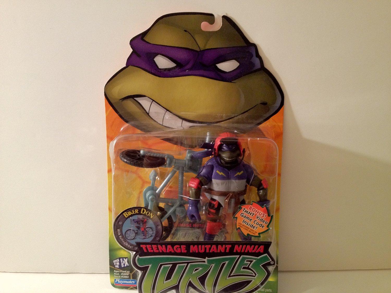 Playmates Teenage Mutant Ninja Turtles Biker Don Bike Riding Turtle Donatello 2003 Collectible Rare