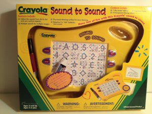 Crayola Sound to Sound! Electronic Connect the Dots w Sound! Numbers, Letters, Colors&more Ages 3&up