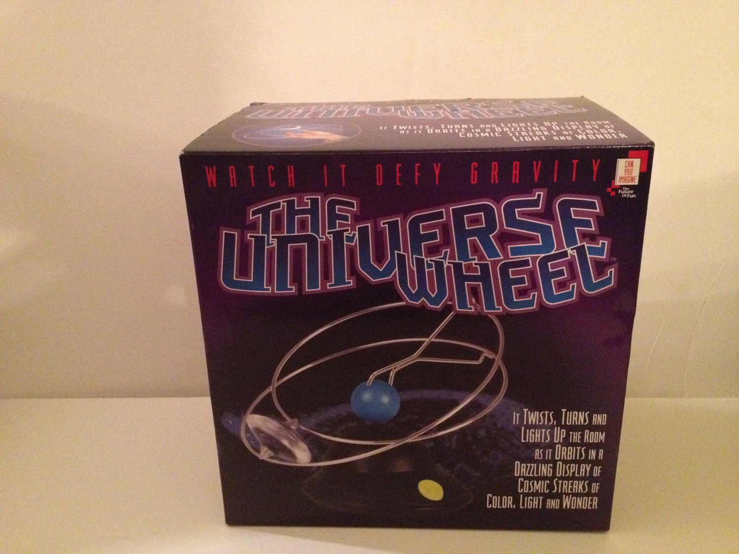 Universe Wheel Watch It Defy Gravity  Twists Turns & Lights Up The Room by Can You Imagine