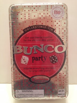 BUNCO Party Game & Collectible Storage Tin Everything you need-fun rollin� party Family Fun
