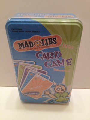 Mad Libs Card Game World�s Greatest Word Game Family Fun! Hilarious!Edutainment! Ages 8 &Up