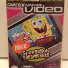 Nickelodeon SpongeBob SquarePants  Vol.1 GBA Video Incl 4 Episodes Nintendo GameBoy Advance Majesco