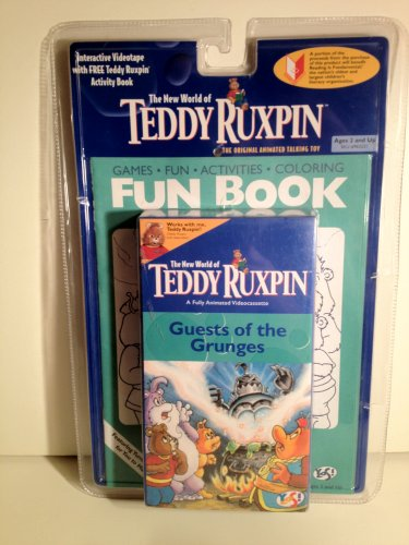 The New World of Teddy Ruxpin Guest of the Grunges Interactive Videotape w Activity Book VCR 1998