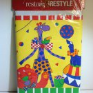 Decorative Border Playful Circus Theme Circus Characters,Acts,Colors &ShapesRestore & RESTYLE x15ft