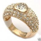 18k white gold plated Swarovski Crystal ring(8#/ 9# )free shipping