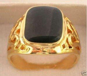 Attraktiv Generous Black Onyx Men's Ring free shipping
