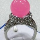 HOT!Charme pink jade Ring size 7,8,9 free shipping