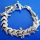 Charm Tibet Silver Men's Dragon Chain Bracelet   free shipping
