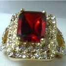 red crystal zircon ring size 7,8,9 free shipping