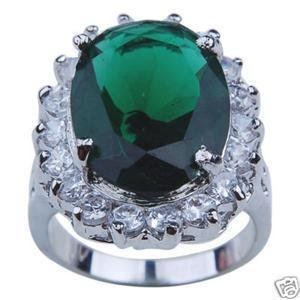 ELEGANT GREEN CRYSTAL OVAL RING 7.8.9 10 free shipping