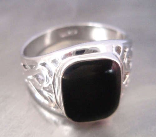 Beautiful Black Onyx Men's Ring 7.8.9  free shipping