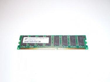 Micron 512MB PC3200U-30331-1 DDR 400MHz Non-ECC 184-Pin Desktop Memory RAM MT16VDDT6464AY-40BG6