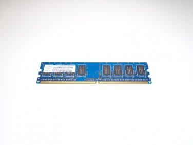 NANYA 1GB DDR2 1Rx8 PC2 6400U-666-13-D1 800Mhz 240 Pin DIMM NT1GT64U88D0BY-AD Ram Memory