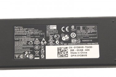 Original OEM Dell LA90PM111 YD9W8 19.5V 4.62A 90 Watt Notebook Ac Adapter