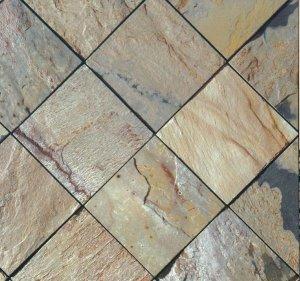 Slate Tile 12x12 Autumn Polished