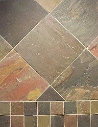 Slate Tile 8x8 Multi Select Polished