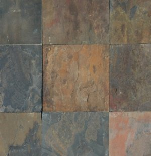 Slate Tile 8x8 Rustic Gold Polished