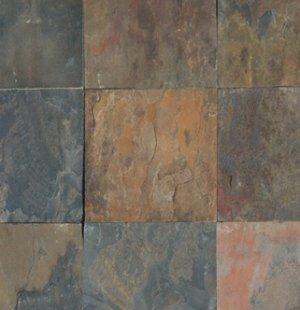 Slate Tile 12x12 Rustic Gold Polished