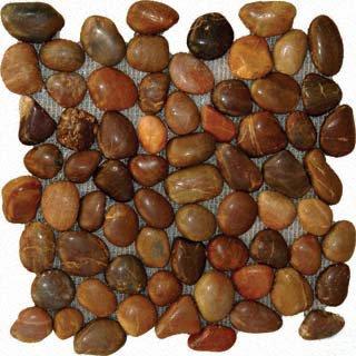 Pebbles 12x12 POLISHED - RED QUARTZITE