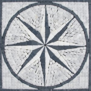 Medallion 12x12 MM12T-Style 2-Arabescato White/ Grey and Black