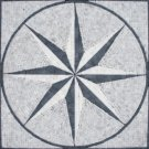Medallion 24x24 MM24T-Style 2-Arabescato White/ Grey and Black