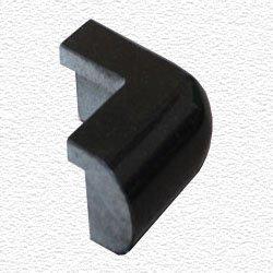 Granite Edge Piece 3X1.75X1.18 ABSOLUTE BLACK PRESCOTT OUT CORNER