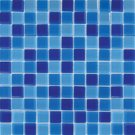 Mosaics 1x1 GLASS BLUE BLEND (Crystallized Blend) 12x12