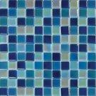 Mosaics 1X1 GLASS IRRIDESCENT BLUE BLEND (Crystallized Blend) 12x12