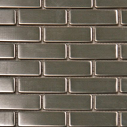 Mosaics 1X2 METAL SILVER BRICK (MATTE) 12X12